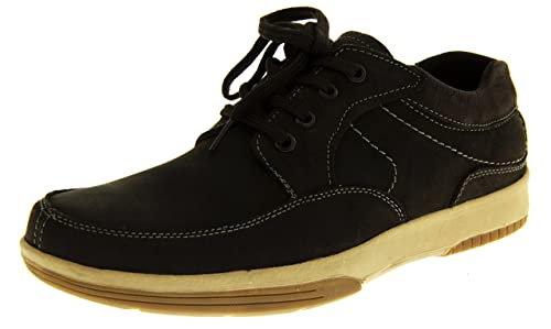3e83a76adb7 Footwear Studio Mens LEATHER YACHTSMAN BY Seafarer Gents Boat Shoes Casual  Summer Deck Shoes Black UK