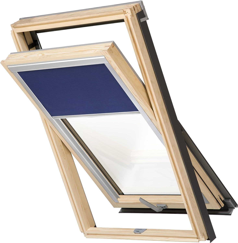 Eindeckrahmen 0-50mm Balio Dachfenster Kunststoff incl 55 x 72 Verdunkelungsrollo und Universal