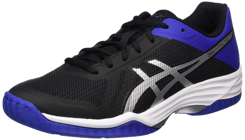 Asics Gel-Tactic, Zapatos de Voleibol para Hombre 42.5 EU|Negro (Black / Asics Blue / Silver)