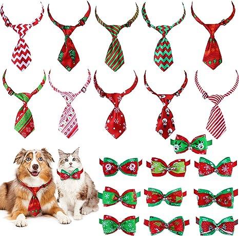 Frienda 20 Piezas Corbatas de Perro de Navidad Corbatas de Mascota ...