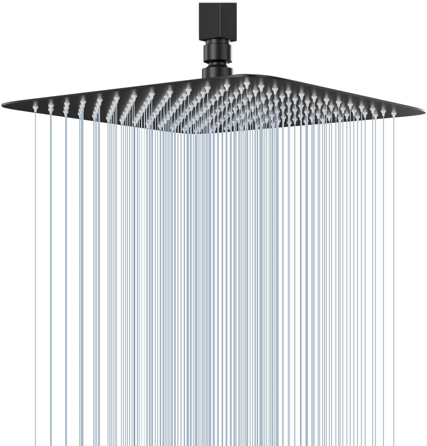 Ggstudy High Pressure Square Shower Head 12 Inches Large Stainless Steel Shower Heads Ultra Thin Rainfall Bath Shower 1 2 Connection Oil Rubbed Bronze Black Shower Head Amazon Com