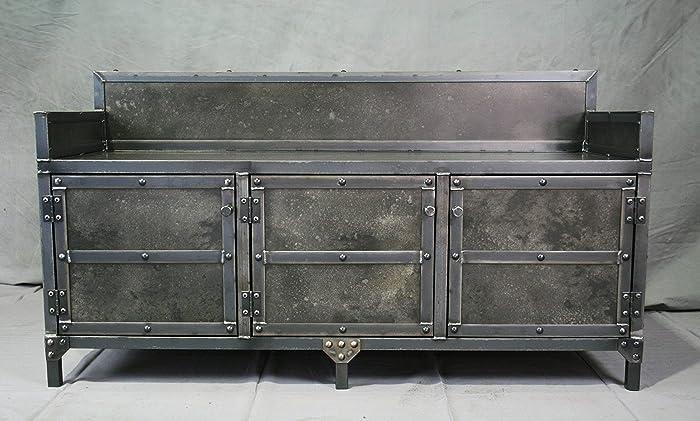 Fine Amazon Com Industrial Style Bench With Storage Heavy Duty Creativecarmelina Interior Chair Design Creativecarmelinacom