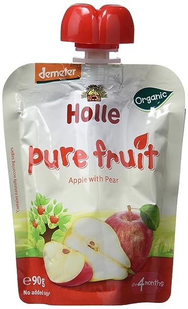 Holle Smoothie Manzana con Pera (+4 meses) - Paquete de 12 x 90