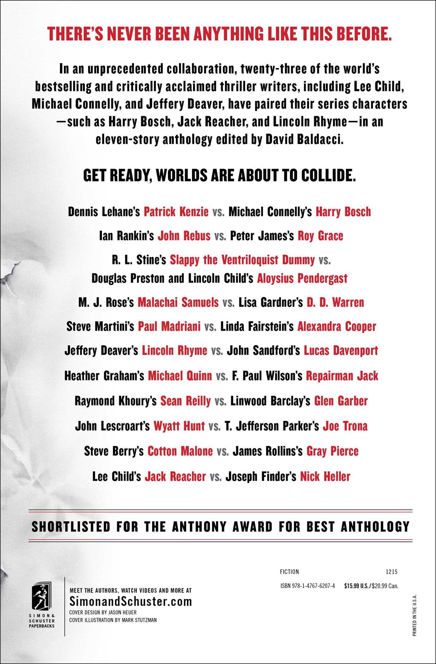 Faceoff: Lee Child, Michael Connelly, John Sandford, Lisa Gardner, Dennis  Lehane, Steve Berry, Jeffery Deaver, Douglas Preston, Lincoln Child, James  Rollins