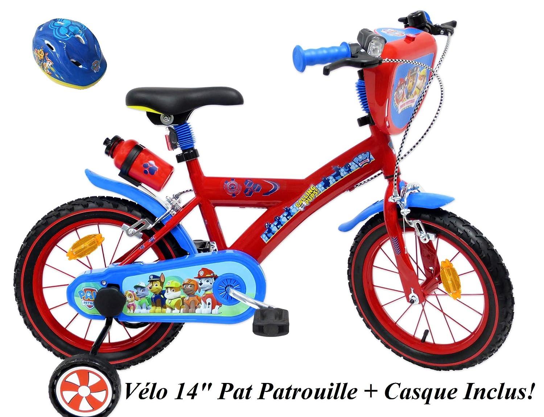 EDEN-BIKES 14 Pulgadas Bicicleta de 14 Pulgadas para jard/ín con Patinete 2 Frenos PB//BIDON AR Casco para Bicicleta Infantil