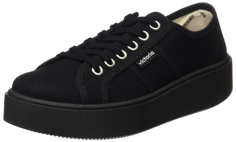 Victoria Basket Lona Piso Negro, Zapatillas para Mujer