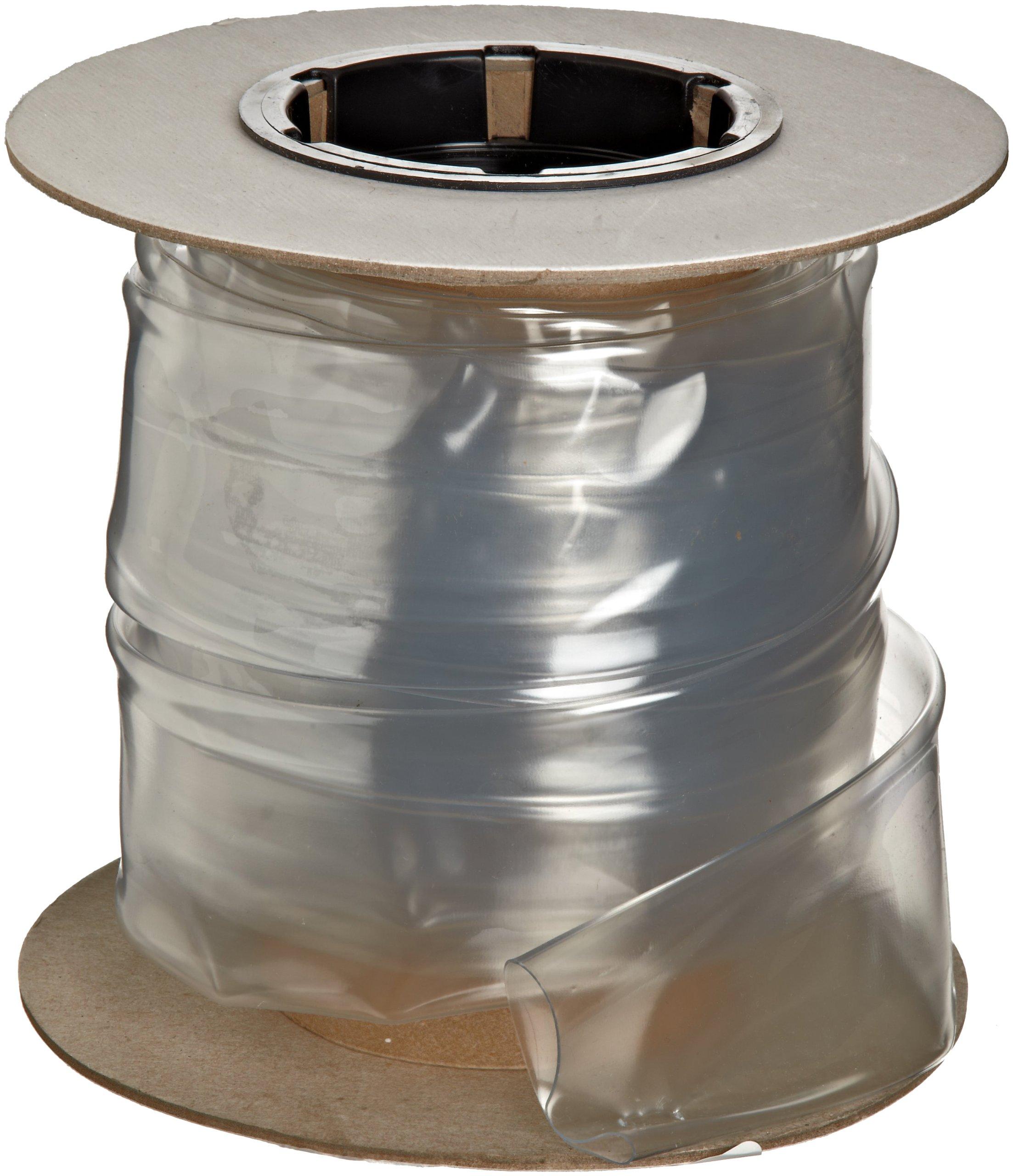 Insultab 3015000C1A5 HS-105 1-1/2'', 25' Clear Polyvinylchloride Heat Shrink Tubing
