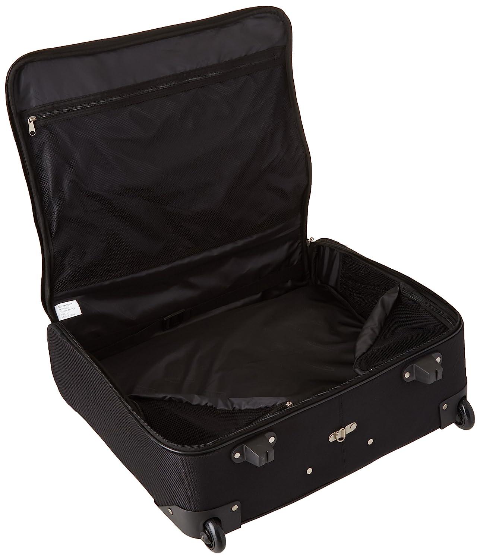 23-Inch Black Travel Select Amsterdam Rolling Garment Bag Wheeled Luggage Case