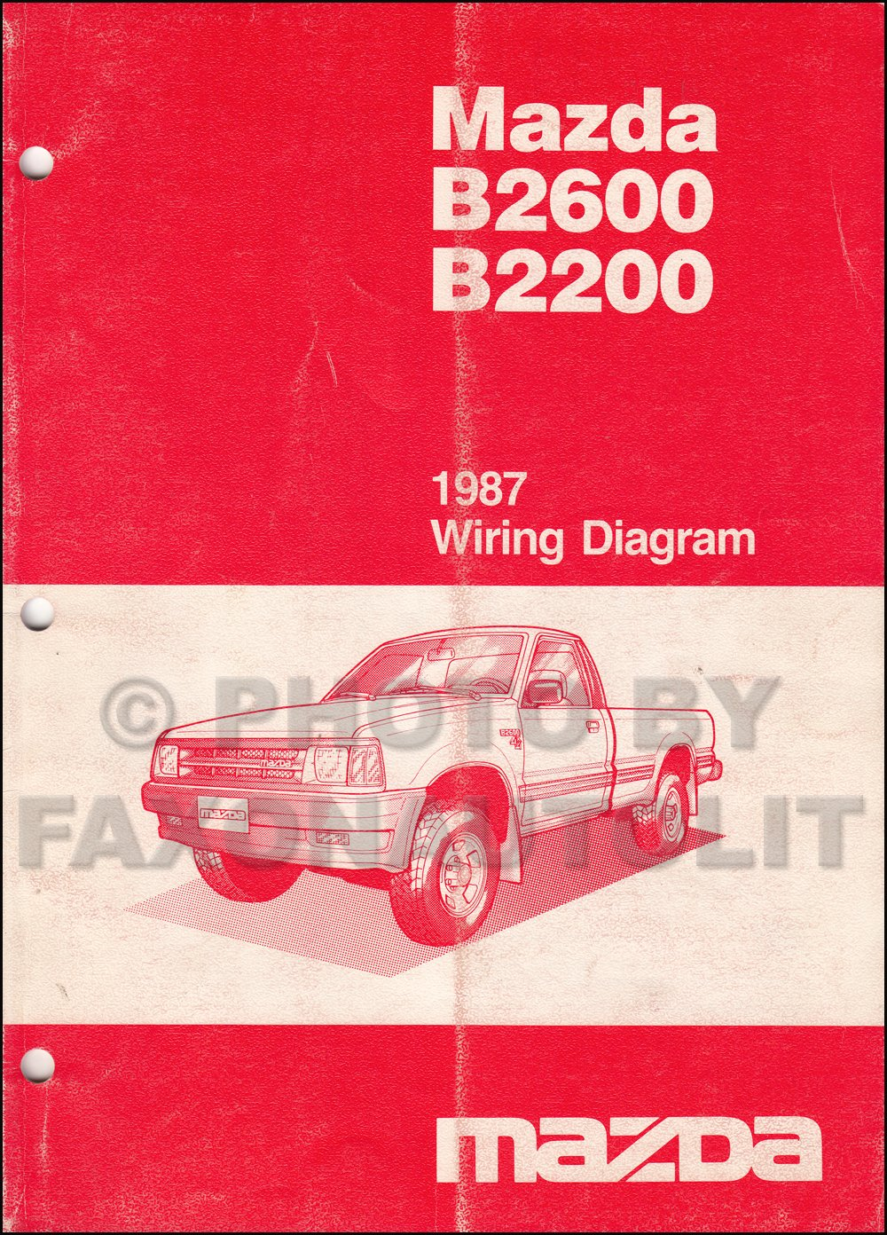 1987 Mazda B2200 B2600 Pickup Truck Wiring Diagram Manual Original: Mazda:  Amazon.com: Books