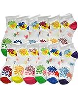 Angelina Dozen-Pack COTTON Low Cut Socks, #2305_F2F