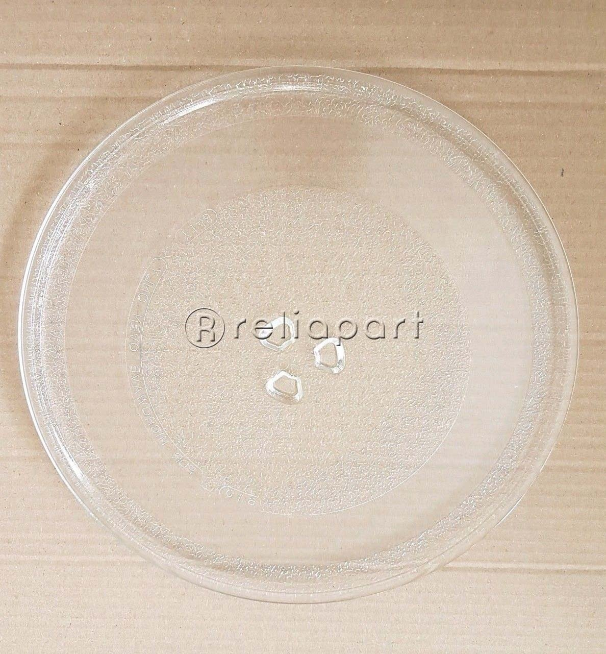 Reliapart Turntable Glass Plate with 3 Fixers for Russell Hobbs Microwaves(245mm) Compatible