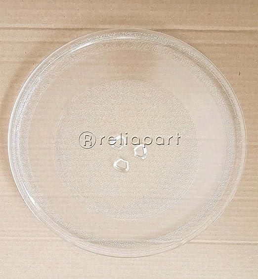 Reliapart - Plato de cristal giratorio con 3 fijadores para ...
