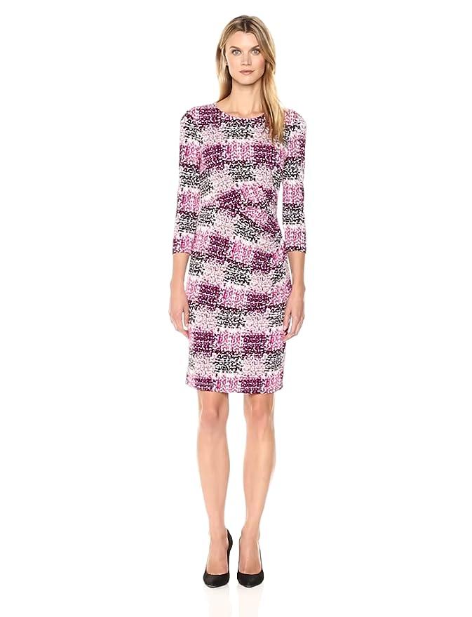 5b1d1583 Eliza J Women's Side Tuck Sheath Dress (Regular & Petite) at Amazon Women's  Clothing store: