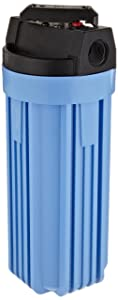 "Pentek 150164 3/4"" #10 VIH Blue Filter Housing with Valve and Pressure Relief"