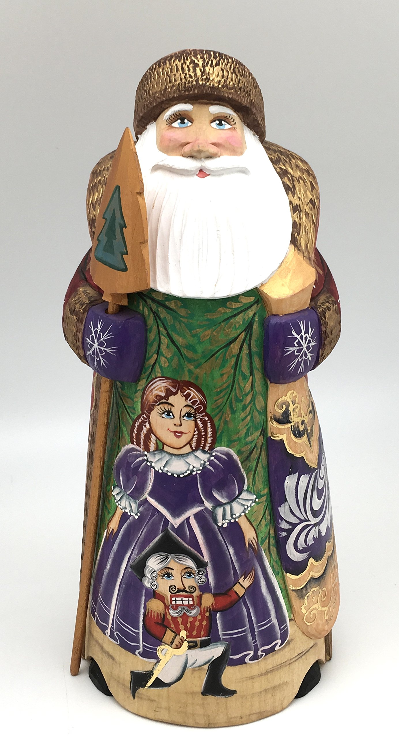 Nutcracker Russian Hand Carved Hand Painted Santa / Wood / Christmas Gift