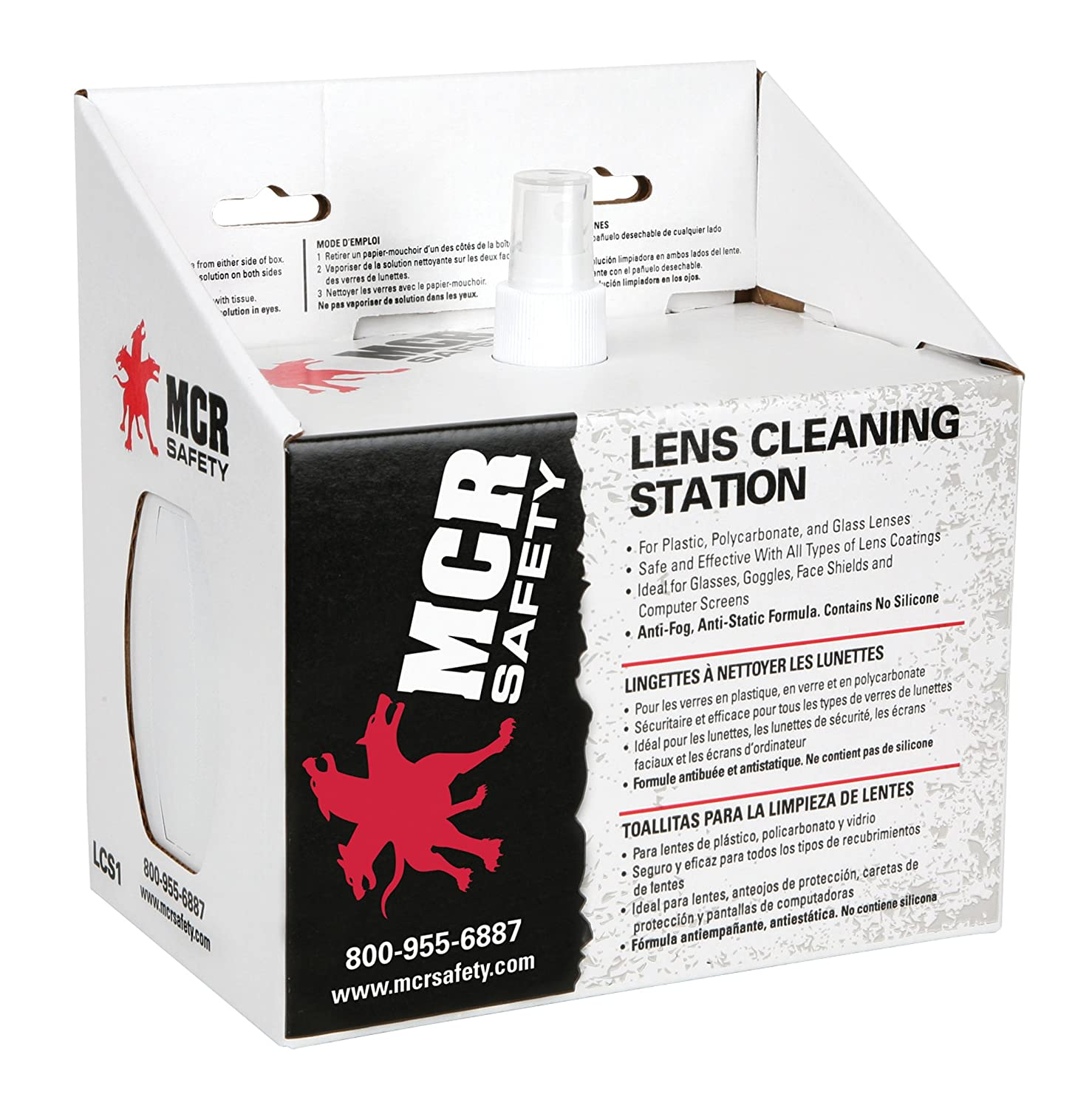 Amazon.com: Disposable Lens Cleaning Station By MCR Safety/station, Disposable Lens Cleaning, 8oz BTL: Health & Personal Care