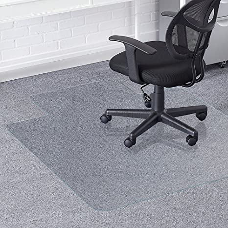 amazon com valuebox transparent 48 x 36 pvc home office chair mat