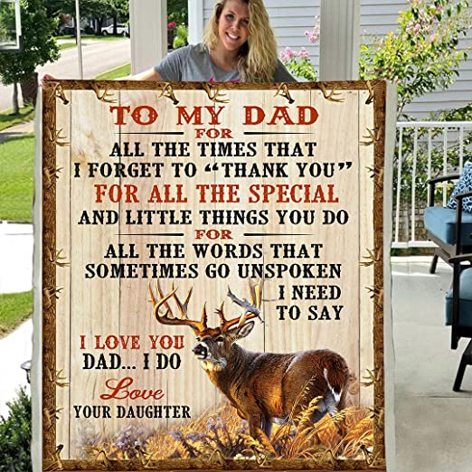Deer To My Gorgeous Wife When I Say I Love You Sofa Fleece Blanket Mothers Day