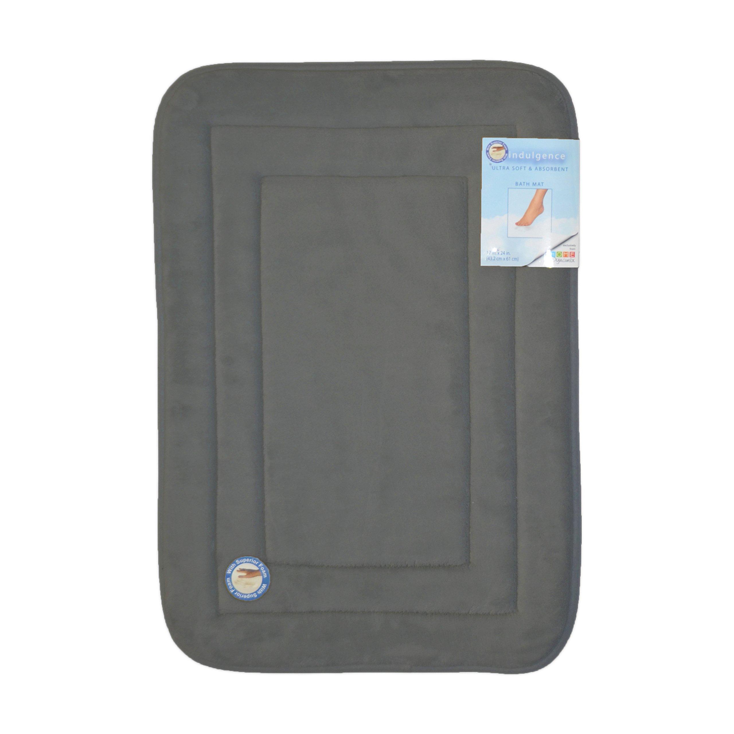 Dark Gray Memory Foam Bath Mat/area rug: Non-skid, Absorbent, 17 X 24 or 20 X 30 (Racetrack, 20x30)