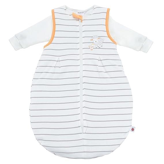 Coconette Saco de dormir bebé todo el año - 2 Piezas: saco exterior forrado y saco interior de manga larga | Forma de pera, sin costuras - Talla: 3-6 meses ...