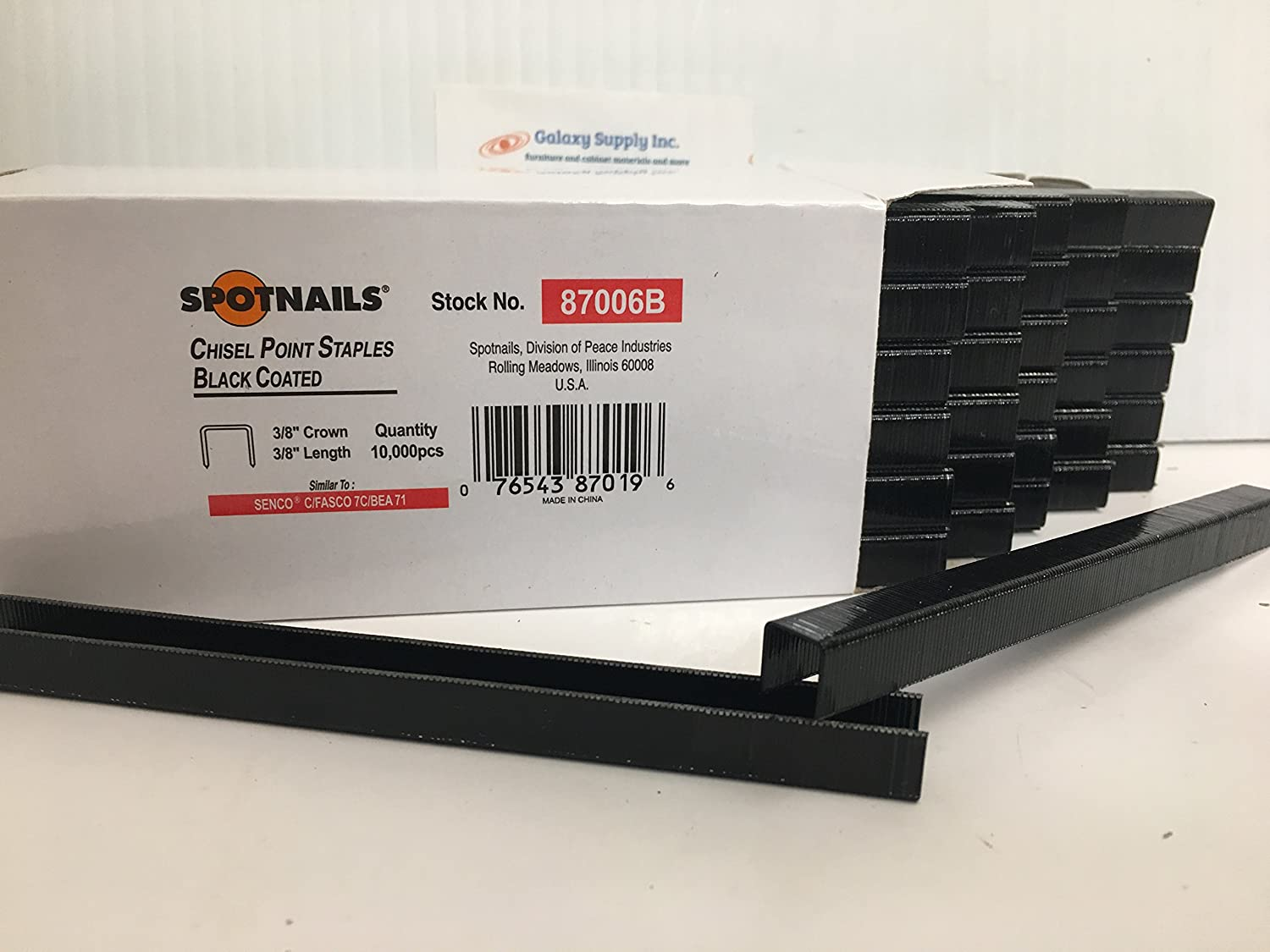 Sold by 12 Boxes//CASE SPOTNAILS #87008 71 OR C Series Staples 1//2 Length