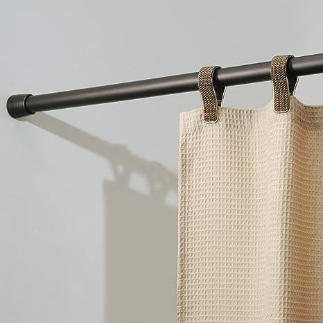 "Inter Design Cameo Metal Tension, Adjustable Customizable Curtain Rod For Bathtub, Shower Stall, Closet, Doorway, 26"" 42"", Bronze by Inter Design"