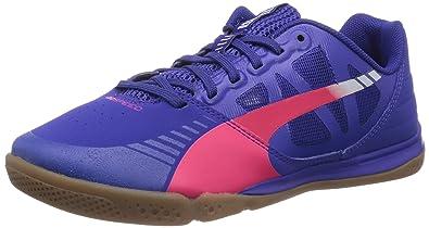 Puma evoSPEED Sala, Chaussures de football mixte adulte - Bleu - Blau  (clematis blue