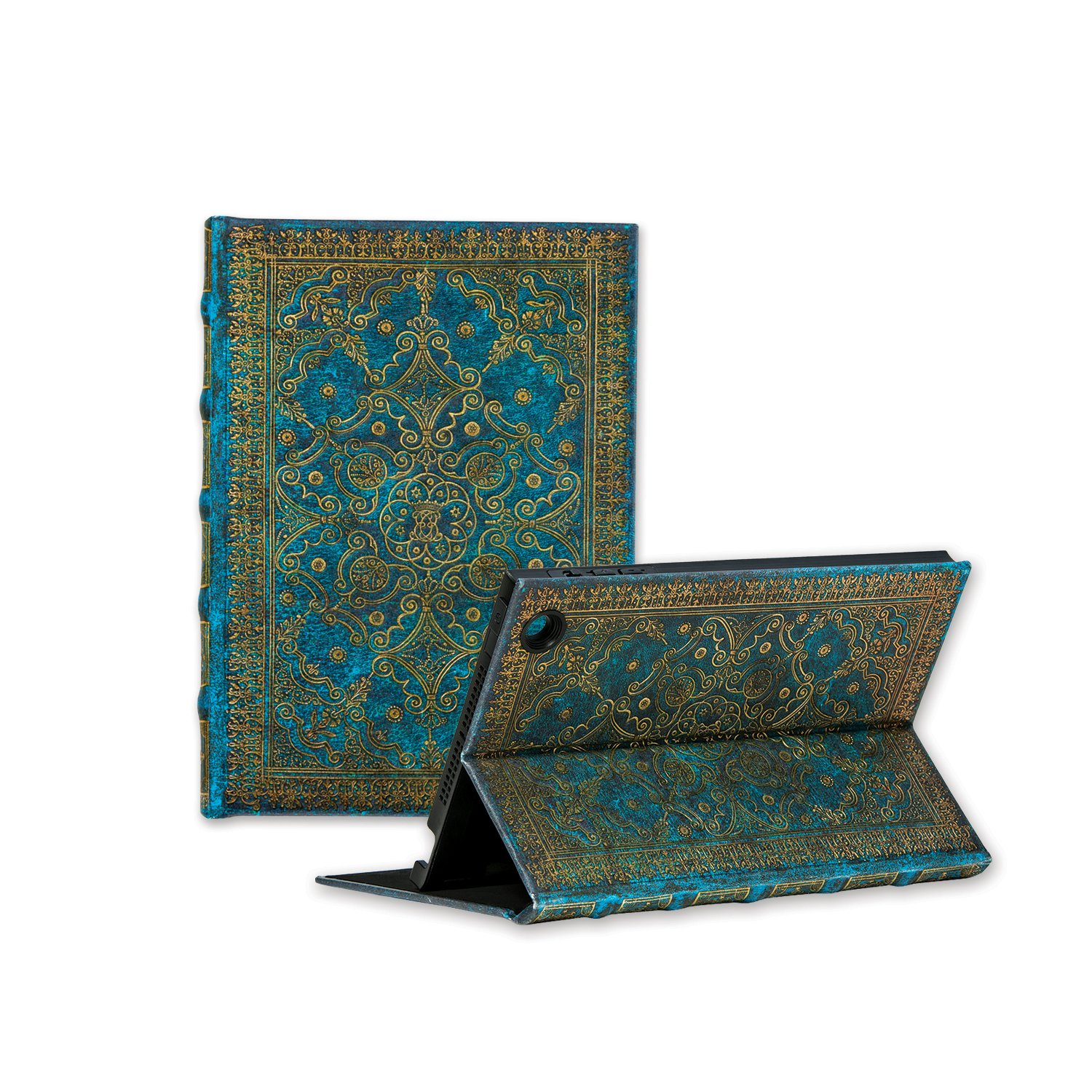 Paperblanks eXchange Tablet Jacket for Apple iPad mini 1/2/3, Infinite Viewing Angle Case – Azure Design by Paperblanks Hartley & Marks Publishers Inc.