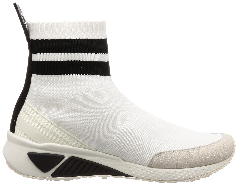 Diesel Women's SKB S-Kb Sock W Mid Sneaker B077GGZVVC 9.5 B(M) US|White/Black