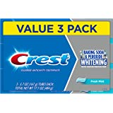 Crest Cavity and Tartar Protection Toothpaste, Whitening Baking Soda & Peroxide, (3 Count of 5.7 oz Tubes Each) 17.1 oz