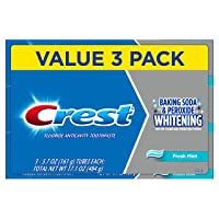 Crest Cavity and Tartar Protection Toothpaste, Whitening Baking Soda & Peroxide,...
