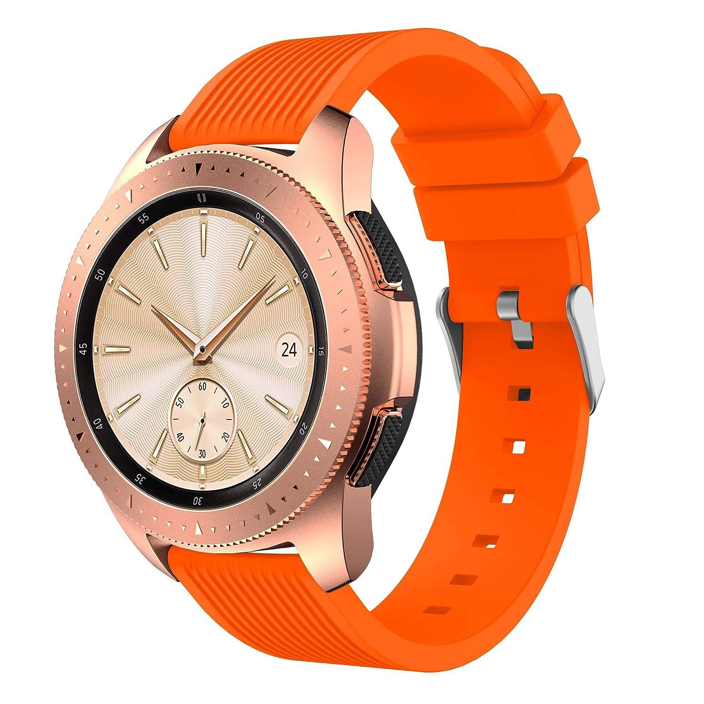 SUPORE Bracelet pour Samsung Galaxy 42mm, 20MM Bracelet de Montre Remplacement Bande de Poignet en Silicone Bracelet pour Samsung Galaxy Watch ...
