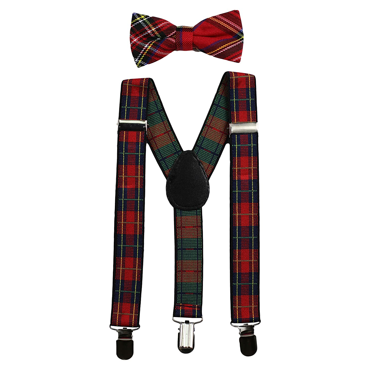 Elastic Adjustable-Fits Baby to Toddler Baby Suspenders and Bow Tie Set