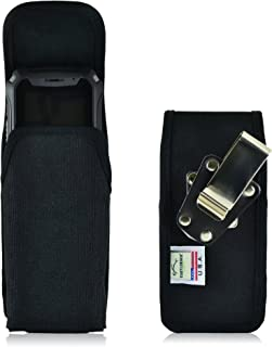 product image for Turtleback Belt Clip Holster Case Fits Sonim XP5, Nylon Vertical Heavy Duty Black Nylon Pouch, Made in USA