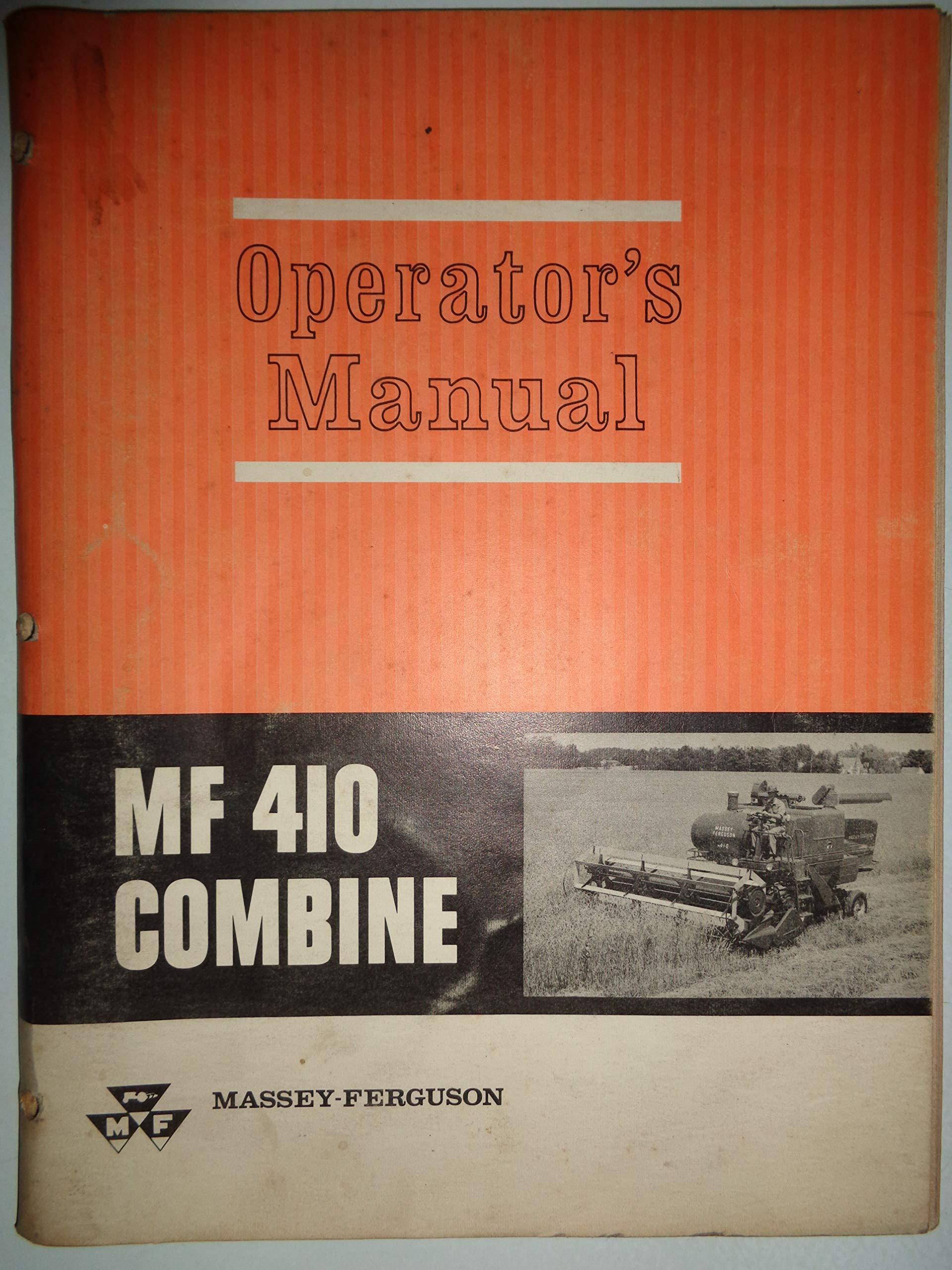 Mf 690 Operators Instruction Book Agriculture/farming