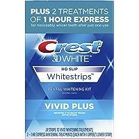 Crest 3D White Whitestrips Vivid Plus 12 Treatments – 10 Treatments Vivid Whitestrips + 2 Treatments 1 Hour Express Dental Teeth Whitening Kit