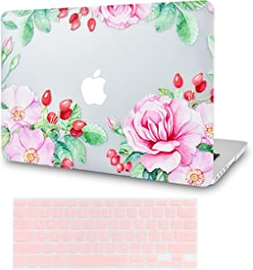 LuvCase 2 in 1 Laptop Case for MacBook Air 13 Inch A1466/A1369 (No Touch ID)(2010-2017) Rubberized Plastic Hard Shell Cover & Keyboard Cover (Roses and Wild Fruit)