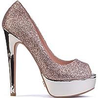 "Petit Cadeau Danielle - Women's Classy & Elegant Peep Toe Pumps with 6"" Stiletto High Heels & 1.5"" Platform. Handmade to…"