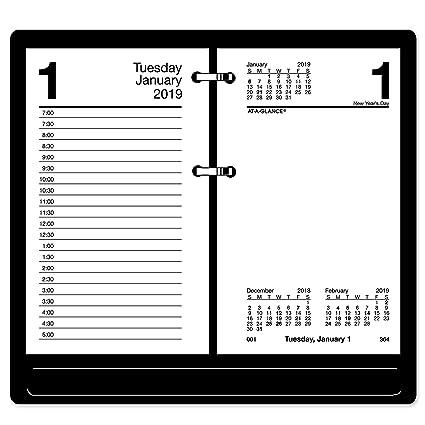 January 1 Calendar 2019 Amazon.: AT A GLANCE 2019 Daily Desk Calendar Refill, 3 1/2