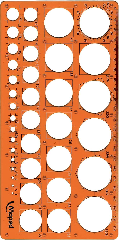 Nouveaux Cercles En Plastique Géométrique Modèle Règle Outil De Mesure De