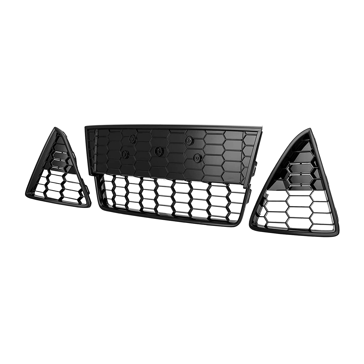 Honeycombed Front Bumper Lower Grille Grills For Focus 2012 2013 2014 3pcs