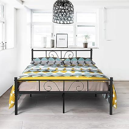 Amazon.com: GIME Bed Frame Full Size, Yanni ADRINA Premium Platform ...