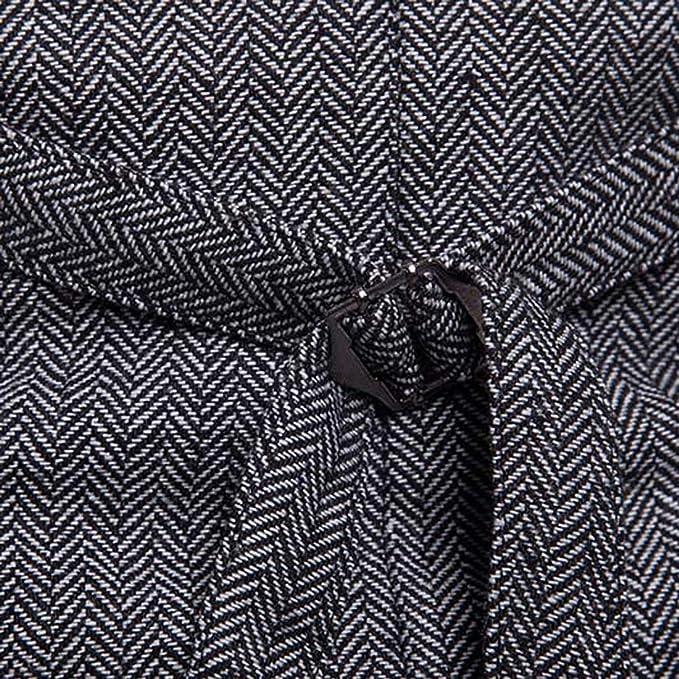 Yuyudou Chaleco de Tweed Vintage para Hombre, Chaleco de ...