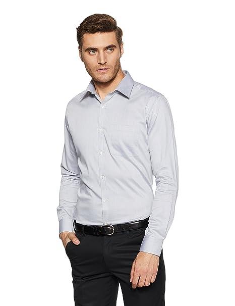 c5bd4fe8 Park Avenue Men's Solid Slim Fit Formal Shirt (PMSX09409-G4_Medium Grey_39)