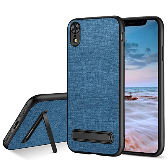 best sneakers f705c 183bc BENTOBEN Fabric Phone Case for iPhone XR 2018,Slim Anti-Scratch Impact  Resistant Non-Slip Shock Absorption Protective Phone Case Cover with  Magnetic ...