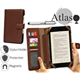 """Navitech 7"""" Brown Leather Book Style Folio Case / Cover & Stylus Pen For The Kindle Fire HD 7"""", HD Display, Wi-Fi, 8 GB / Kindle Fire HD 7"""", HD Display, Wi-Fi, 16 GB"""