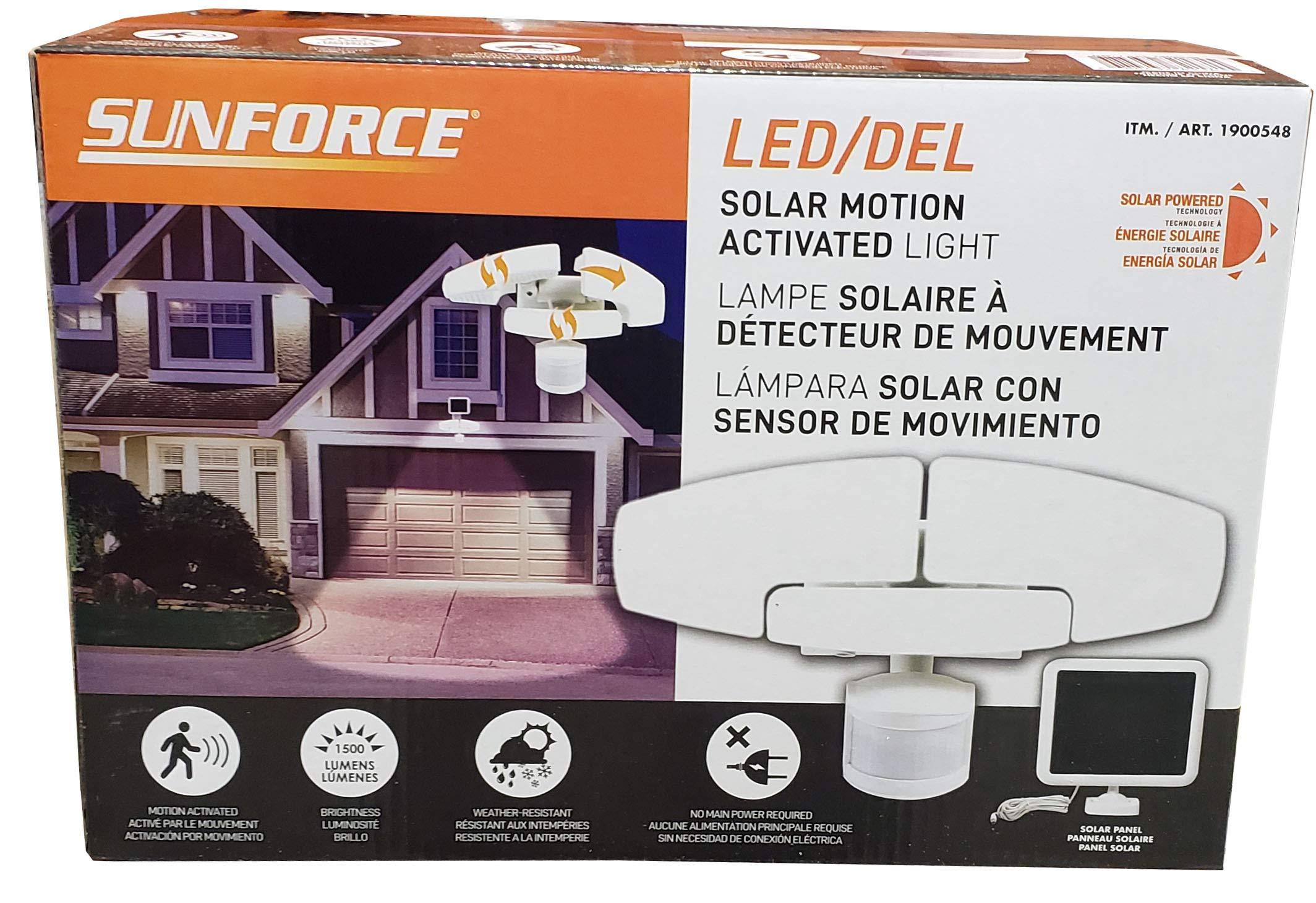 Sunforce Solar Motion Security Light Led/Del, Orange by Sunforce