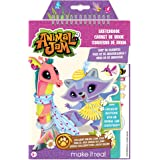 Make It Real – Animal Jam Sketchbook w/ Exclusive Masterpiece Token. Animal Jam Coloring Book for Kids. Includes Sketch Pages, Stencils, Stickers, Interview w/ Illustrator, and Online Game Token