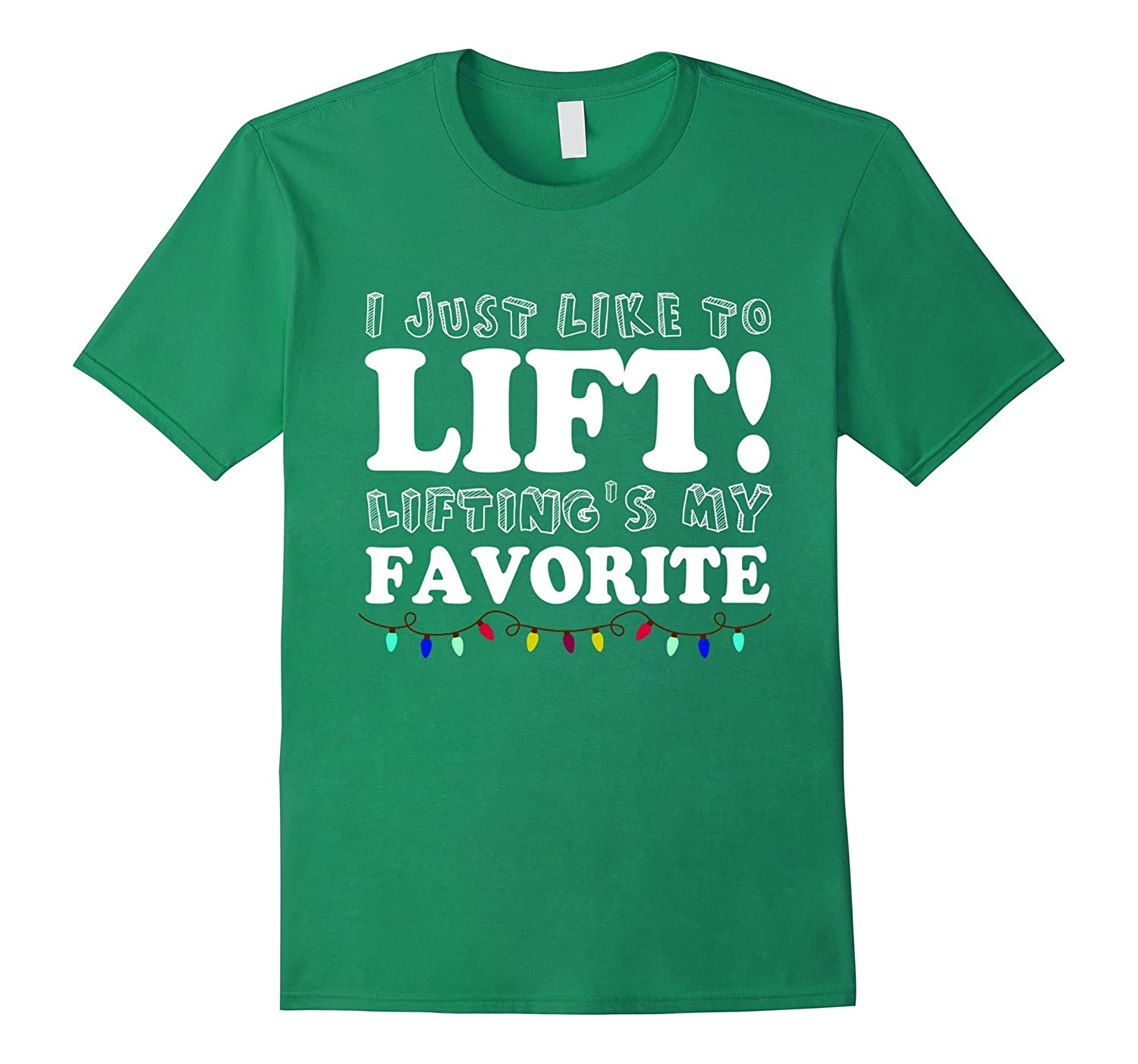 I Just Like To Lift Lifting Is My Favorite T-shirt-Rose