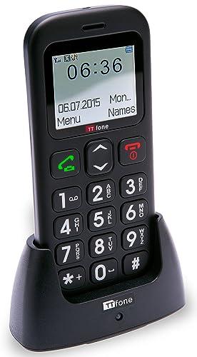 TTfone Astro TT450 Big Button Candy Bar Sim Free Mobile Phone - Black